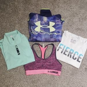 Bundle of girl's Under Armour tops
